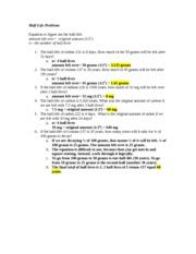 half life practice worksheet using tables half life problems example. Black Bedroom Furniture Sets. Home Design Ideas
