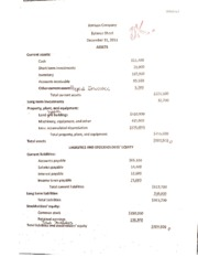 Balance Sheet Project Example