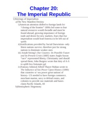 Chapter 20- The Imperial Republic
