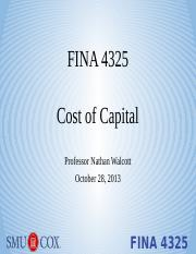 Lecture 7 - Cost of Capital