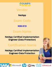 NetApp Certified Implementation Engineer-Data Protection NS0-513 NetApp Practice Test