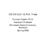 CS 310 Unit 12 AVL Trees