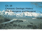 LectureCh.16. Cenozoic Earth