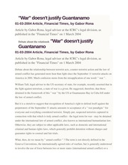 8 - War doesnt justify Guantanamo