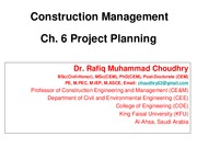 CEE 345-CM-Ch 06-Project Planning