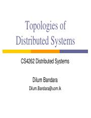 02 - Topologies of Distributed Systems