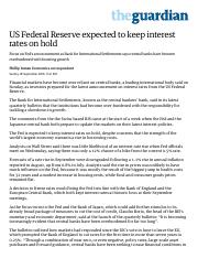 US Federal Reserve expected to keep interest rates on hold _ Business _ The Guardian.pdf