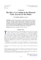 The Role of Accounting in the Financial Crisis
