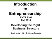 ENTR_2101_Business_Structure_Fall_2013