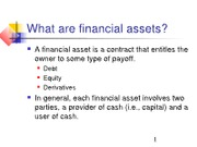 CF2 Ch 01 Review of Financial Markets and Institutions