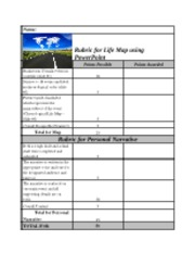 9-11_Tuesday_Create_a_Life_Map_Rubric