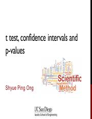 12 - t test and confidence intervals