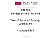 3FIN 300 Taxes Retained Earnings Ch 3_4