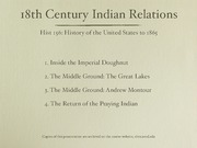 13. 18th Century Indian Relations