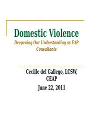 EAP and Domestic Violence