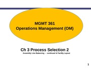 (Presentation) Chapter 3  - Process Selection and Facility Layout- Part 2