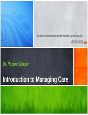 Introduction to Managing Care - Module 1.pptx