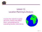 11 Location Planning & Analysis