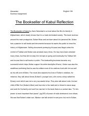 The Bookseller of Kabul Reflection page.pdf