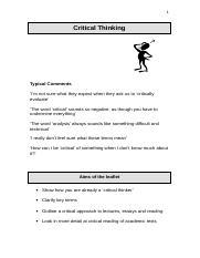 critical thinking bmcc