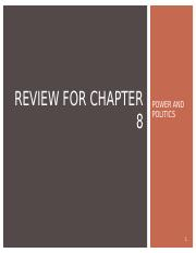 Review of Chapter 10 Power and Politics.ppt