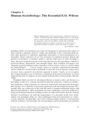 Human Sociobiology - The Essential