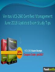Veritas VCS-260 Certified Management June 2018 Updated Exam Study Tips.ppt