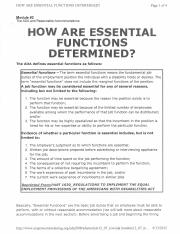 Determining Essential Functions.pdf