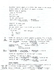 Chemistry Concentration and Dilution Notes