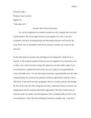 DGulley_Essay1 After Action Assessment