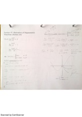 MAC2311 Lecture 17 Derivatives of Trigonometric Functions notes