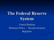 Lecture Notes - The Fed