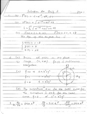 Quiz B Solutions on Calculus