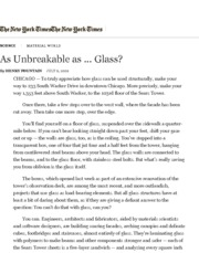 When Glass Acts Like Concrete and Steel - The New York Times