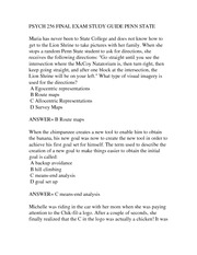 PSYCH 256 FINAL EXAM STUDY GUIDE PENN STATE