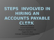 Steps  involved in hiring an accounts payable clerk