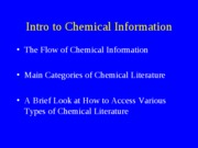 Chemical Information