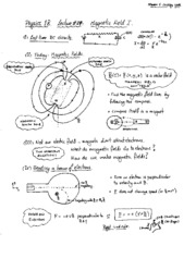Lecture 29 - Magnetic Field I