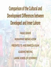 Difference between Developed and Inner Lahore.pptx