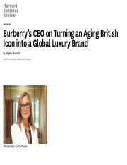 Burberry's CEO on Turning an Aging British Icon into a Global Luxury Brand.pdf