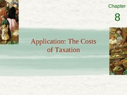 Chapter 8 - Application- the costs of taxation