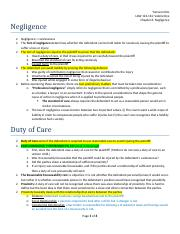 LAW122 - CHAPTER 6 - Negligence.docx