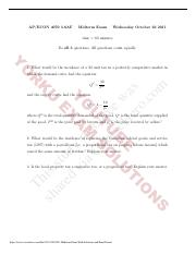 2011 Midterm Exam With Solutions and Final Exam