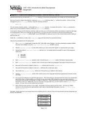 1300 - Assign - 4 - HTML - First Page
