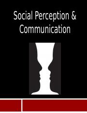 Chap 3- Social Perception and Communication