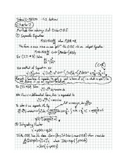 Exam 2 solution on Differential equations