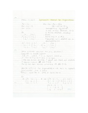 Applied Math - Systematic Method for Eigenvectors Lecture Note