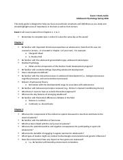 Study Guide for Exam 1 Adolescent Psychology.docx