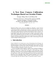 "A new easy camera calibration technique based on circular points"", Pattern Recognition.pdf"