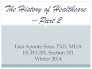 The History of Healthcare_Part 2